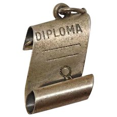 Signed Beau Sterlng Diploma Charm