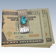 Turquoise Sterling Mixed Metal Money Clip