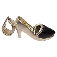 Sterling Enameled High Heel Charm or Pendant