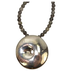 Israel Sterling Agate Pendant Necklace