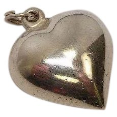Puffy Heart Sterling Charm