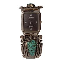 Spiderweb Turquoise Sterling Watch Band