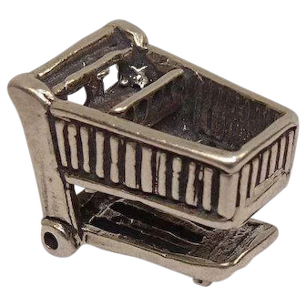 Shopping Cart Sterling Charm