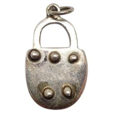 Taxco Mexico Padlock Sterling Charm