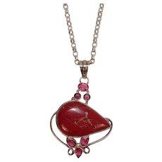 """Stunning Jasper Sterling 26"""" Belcher Chain Necklace"""