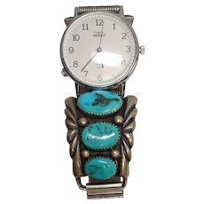 Turquoise Sterling Native American Watch Band