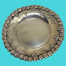 Floral Silver Pin Tray