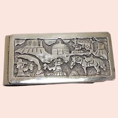 Signed Sue/Tom Kee Navajo Storyteller Money Clip