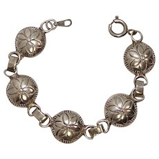 Youth/Child Sterling Concho Style Sterling Bracelet