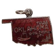 Oklahoma Enameled Mixed Metal Charm