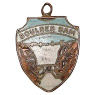 Vintage Copper Boulder Dam Travel Charm