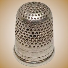 Vintage Sterling Thimble Size 7