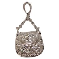 Mechanical Diamond Purse Charm or Pendant
