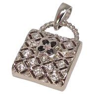 Jeweled Purse Charm or Pendant