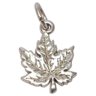 Sterling Maple Leaf Charm
