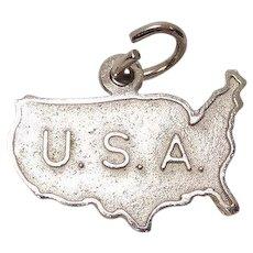 USA Sterling Charm