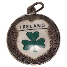 Vintage Ireland Enameled Sterling Charm Made in Germany