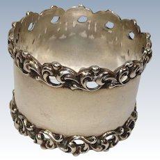 Towle Ornate Edge Sterling Napkin Ring