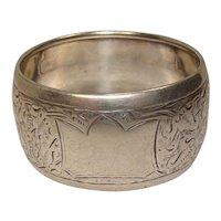Antique 1897 Acanthus Sterling Napkin Ring Birmingham