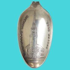 Antique  Old North Church Boston Massachusetts Souvenir Spoon