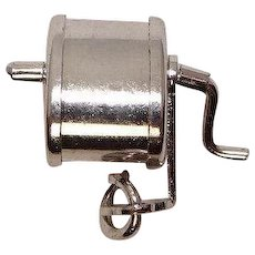 Sterling Mechanical Pencil Sharpener Charm