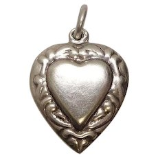 Vintage Silver Heart Charm
