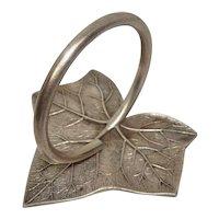 Antique Whiting Mfg. Ivy Leaf Sterling Napkin Ring