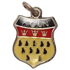 Vintage Cologne Koln Germany Enameled Sterling Travel Charm