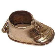 Signed Beau Sterling Baby Shoe Charm