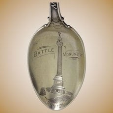 New Jersey Battle Monument Sterling Souvenir Spoon