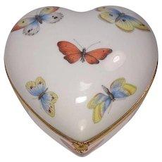Limoges France Butterfly Porcelain Trinket Box
