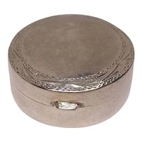 Cute Sterling Round Pill Box