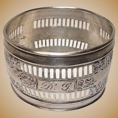 Webster Pierced Floral Sterling Napkin Ring