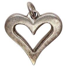 Sterling Open Heart Charm