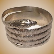 Sterling Snake and Acanthus Napkin Ring