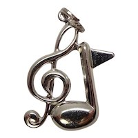 Beau Sterling Music Note Charm