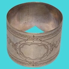 Antique Sterling Cuff Napkin Ring