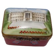 Limoges Eximious  British Hand Painted Porcelain Pill Box
