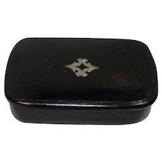 Antique c. 1900 Victorian  Laquered Snuff Box