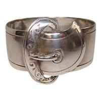 English Sterling Belt Buckle Napkin Ring