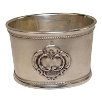 Russian 875 Silver Oval Napkin Ring