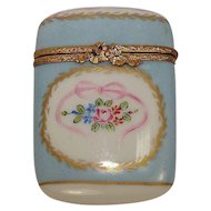 Early 1900's Limoges Floral and Leaf Porcelain Pill Box