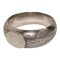 Early 1900's Sterling Engraved Napkin Ring