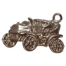 Vintage Sterling Old Car Charm