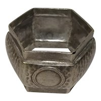 Octagonal Hammered My Lady Napkin Ring