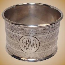 Antique English 1911 Sterling Napkin Ring