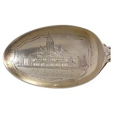Auditorium Ocean Grove New Jersey Souvenir Spoon