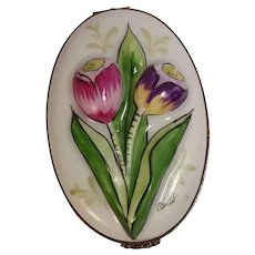 Limoges Chamart Tulip  Pill Box