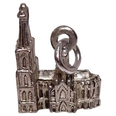 Mixed Metal Twin Spire Cathedral Charm