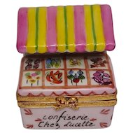Limoges Artoria Confectionery Stand Hand Painted Porcelain Pill Box